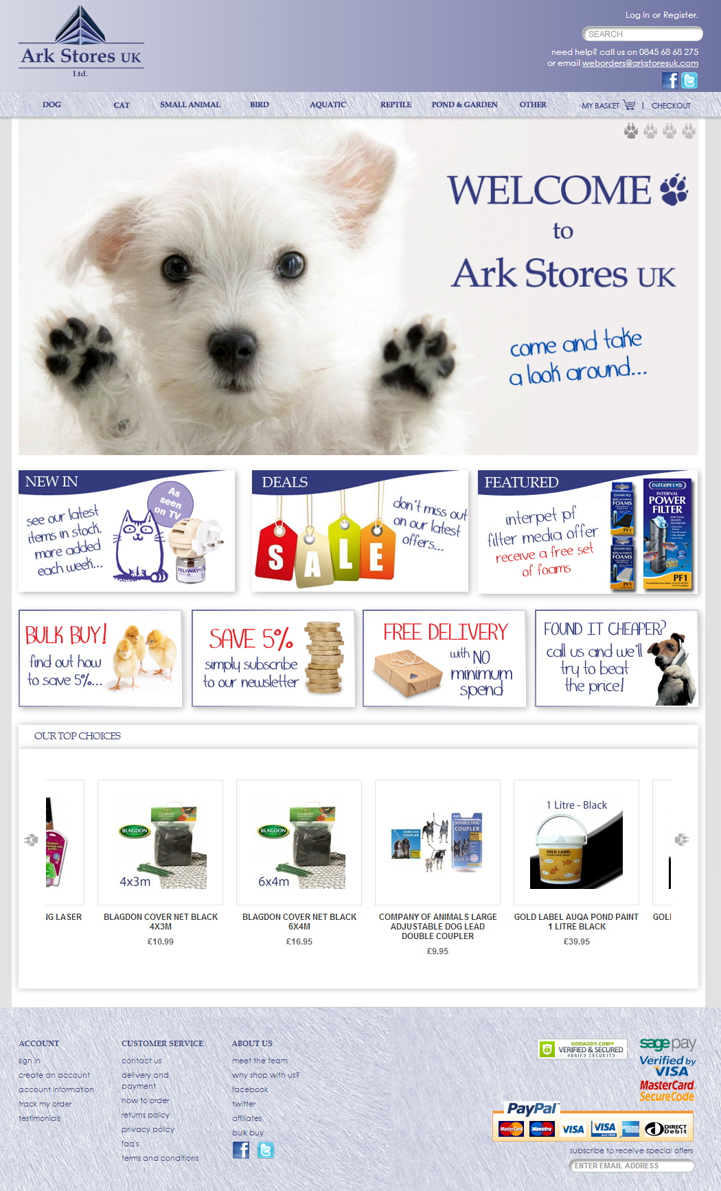 Ark Stores UK   Home page